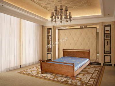 Двуспальная кровать из массива дерева Орион