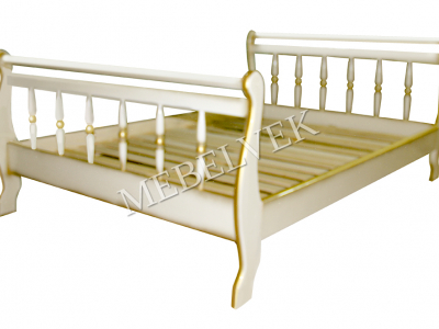 Односпальная кровать с матрасом Орион точёная