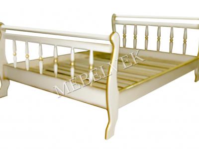 Двуспальная кровать из массива сосны Орион точёная