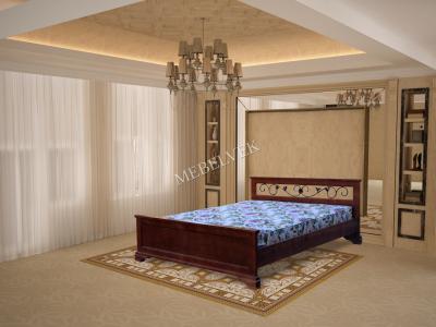Париж кровать с матрасом с ковкой