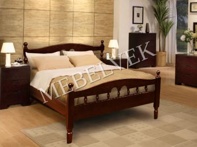 Двуспальная кровать из массива дерева Пенелопа