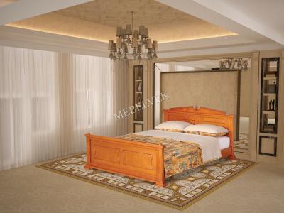 Двуспальная кровать из массива дерева Рим