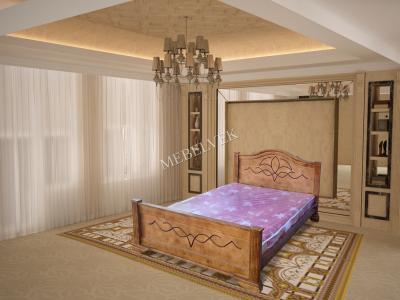 Двуспальная кровать из массива дерева Римини