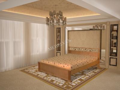 Рондо кровать с матрасом с ковкой