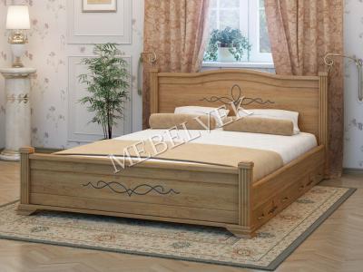 Полутороспальная дачная кровать Рондо с 2 ящиками
