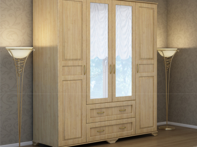 Деревянный шкаф Витязь-240