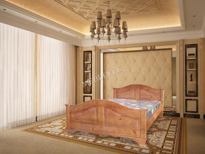 Двуспальная кровать из массива дерева София 1