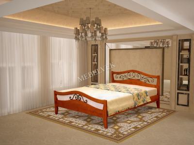 Толедо кровать с матрасом с ковкой