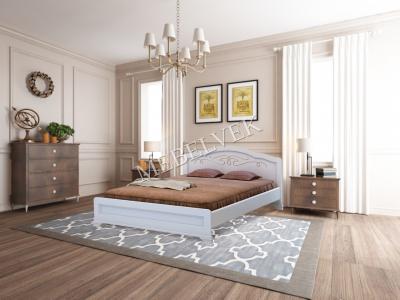 Двуспальная кровать из массива дерева Торино