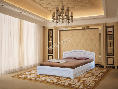 Полутороспальная дачная кровать Торино с 2 ящиками