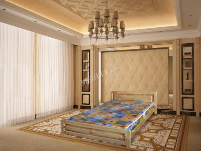 Двуспальная кровать из массива дерева Троя