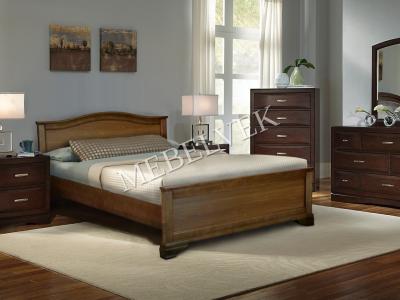 Двуспальная белая кровать Валенсия