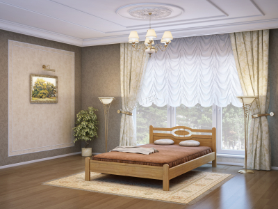 Односпальная кровать из массива сосны Ванкувер