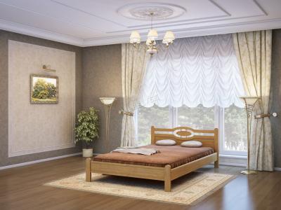 Двуспальная кровать из массива сосны Ванкувер