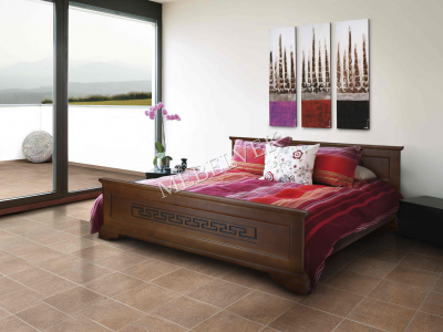 Односпальная кровать из массива сосны Венеция
