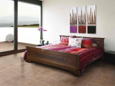 Двуспальная кровать из массива сосны Венеция
