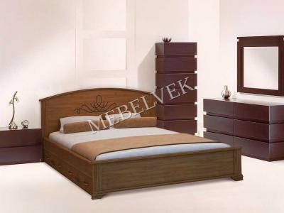Односпальная кровать из массива сосны Венера  с ящиками