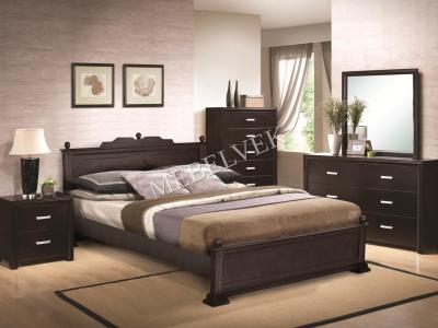 Двуспальная кровать из массива сосны Венера 2