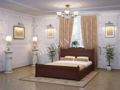 Односпальная кровать из массива сосны Венера 2 с ящиками