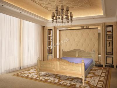 Двуспальная кровать из массива сосны Верда