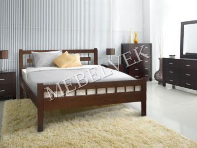 Односпальная белая кровать  Веста