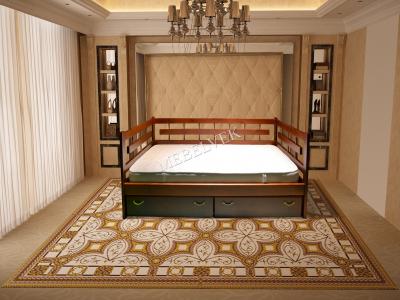 Односпальная недорогая кровать Веста 3 Спинки
