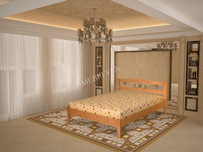 Виелла кровать из дерева с ковкой