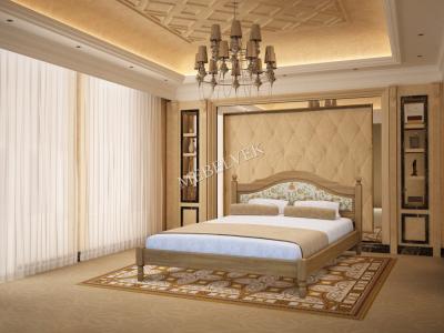 Односпальная кровать 90х200 с ящиками для белья   Виктория