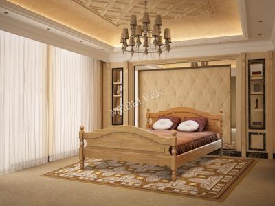 Двуспальная кровать из массива сосны Корсика