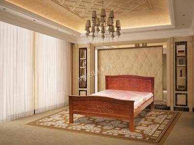 Двуспальная кровать из массива дерева Юнона