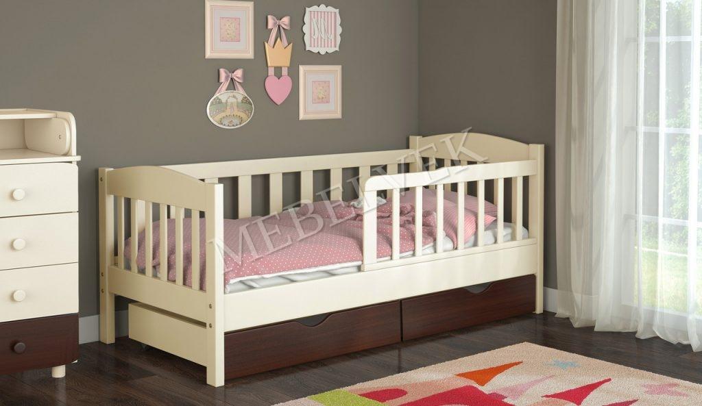 Кровать детская Салют из массива березы