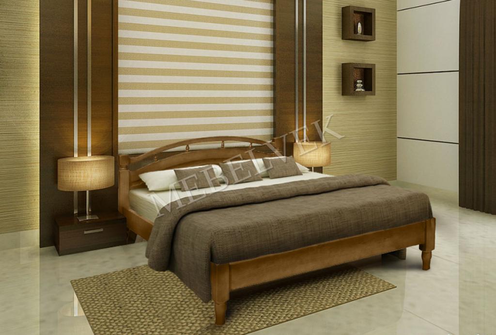 Кровать Афродита из дуба