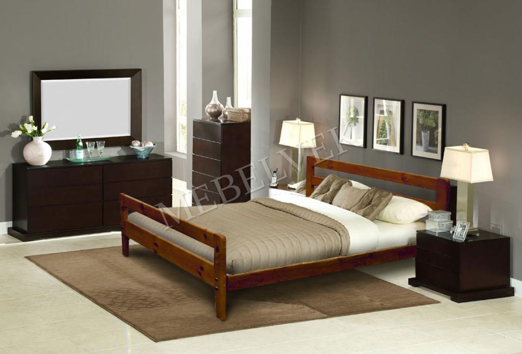 Кровать Дафна из массива березы