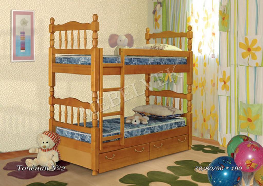 Кровать детская двухъярусная Ларго