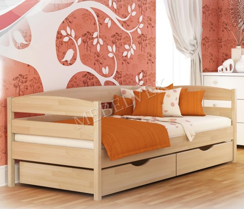 Кровать детская Буратино из березы