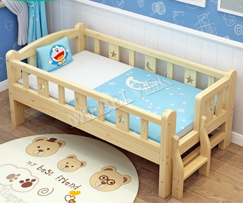 Кровать детская №1 из массива березы