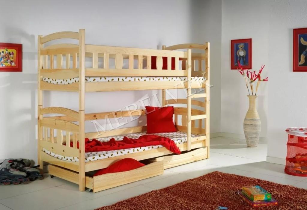 Кровать двухъярусная Умничка из дуба