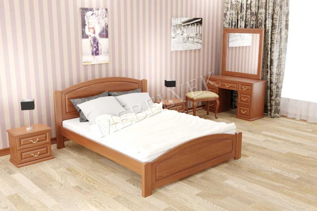 Кровать Адель  из дуба