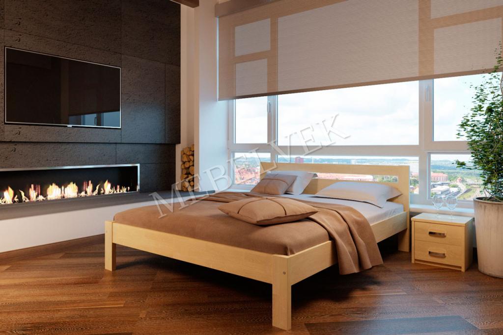 Кровать с матрасом полутороспальная Дачка