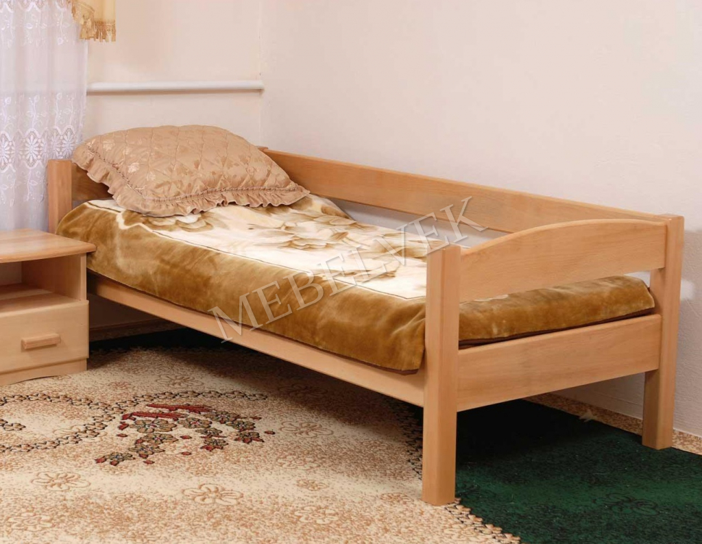 Кровать детская Нота  из березы