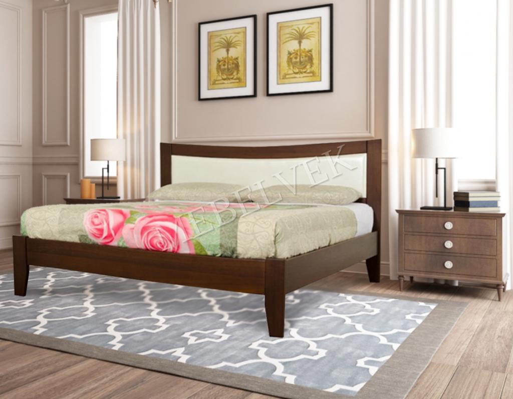 Кровать Анапа из массива дерева