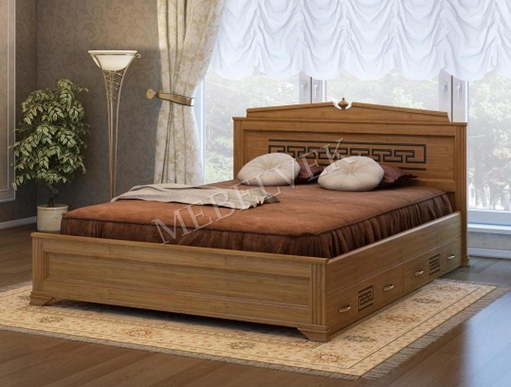 Кровать Италия с 2 ящиками 90х200