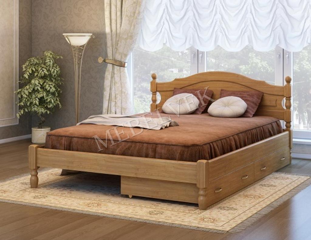 Кровать Корсика с 2 ящиками 80х200