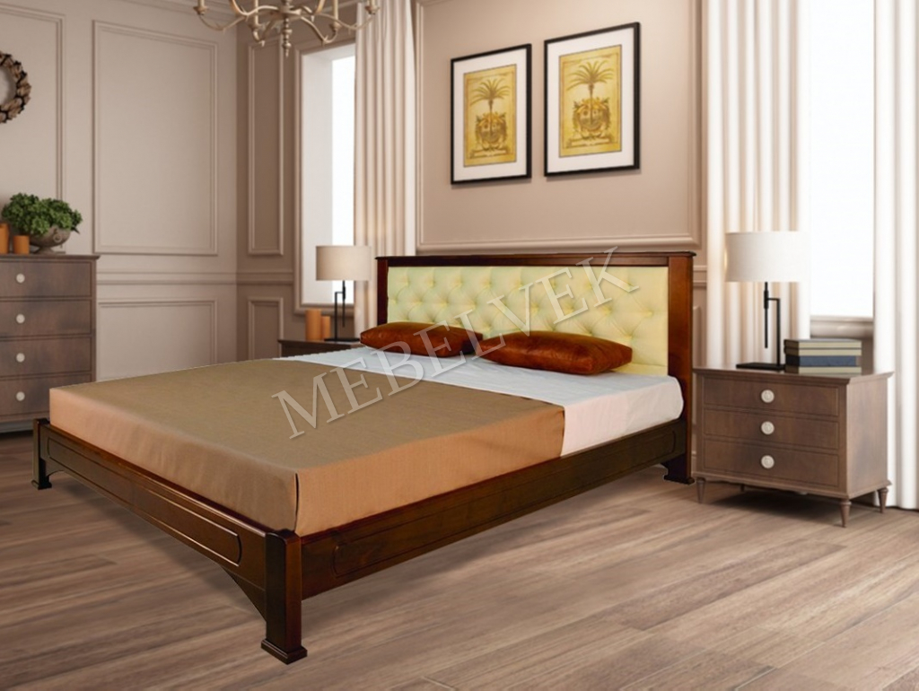 Кровать Мурсия с мягким изголовьем