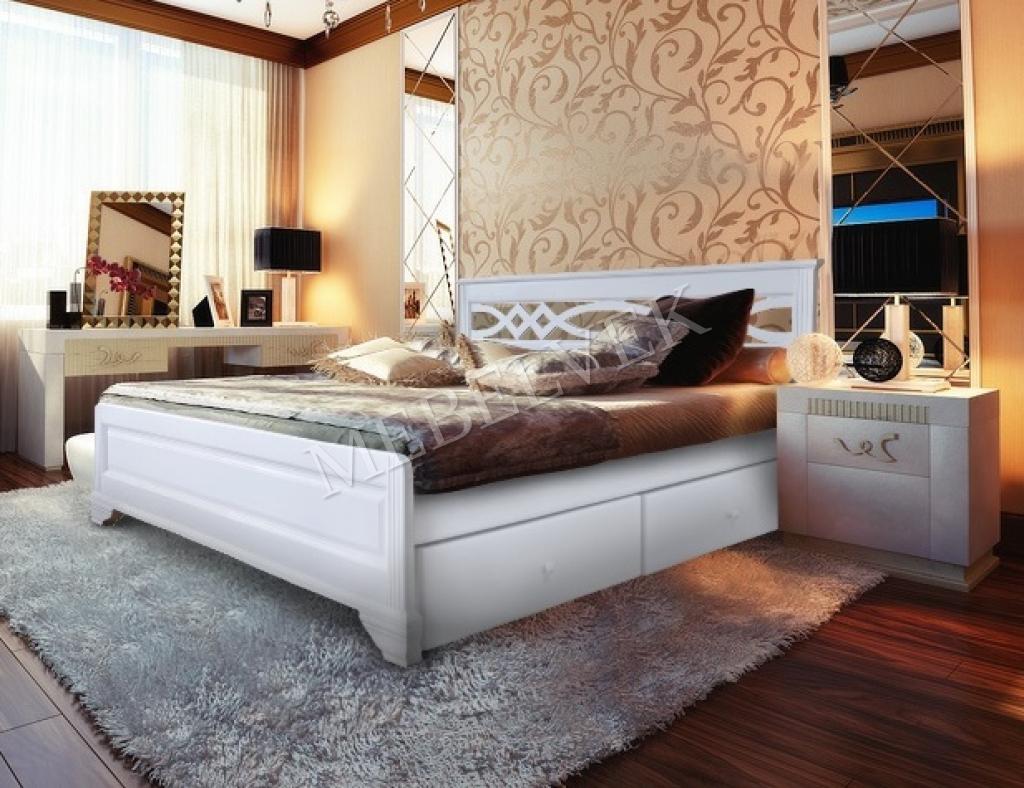 Кровать Муза с ящиками 90х200