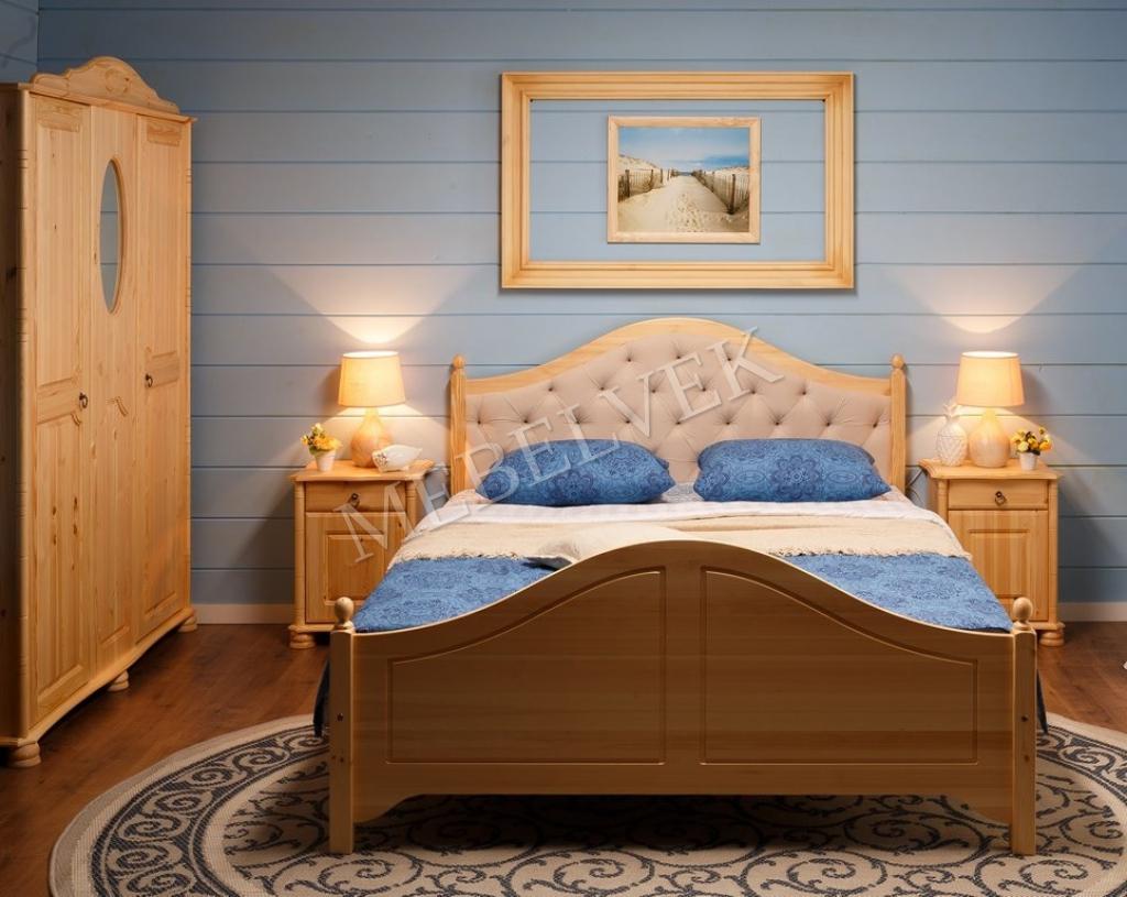 Кровать Николь с мягким изголовьем