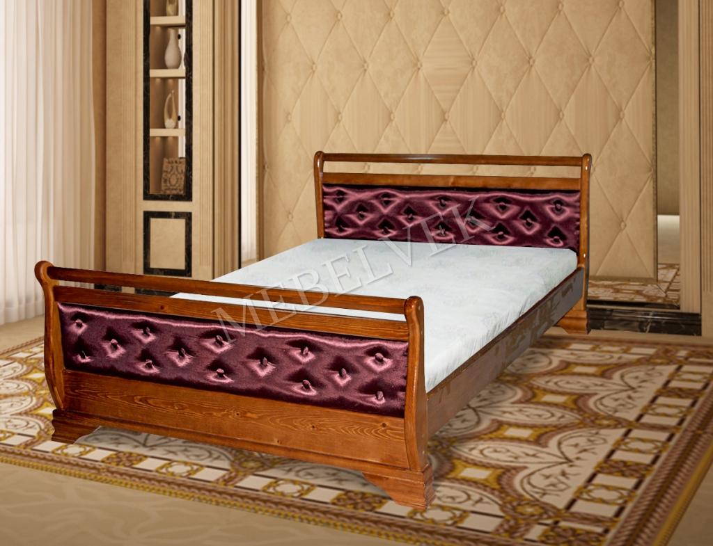 Кровать Орион с мягким изголовьем с мягким изголовьем