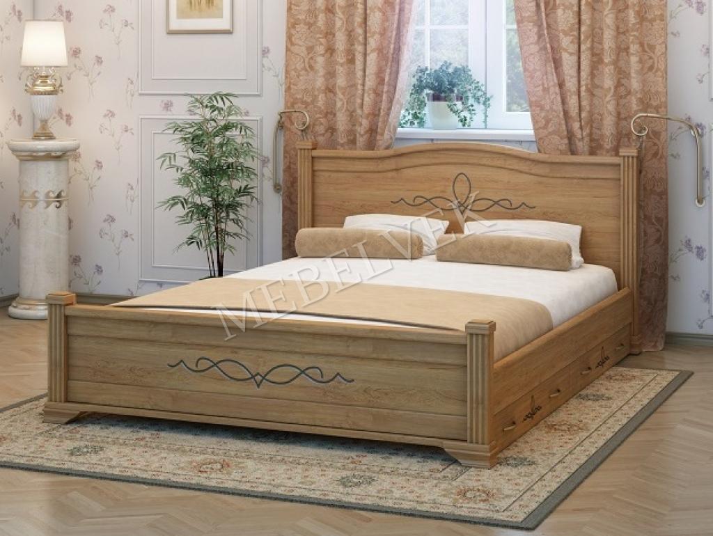 Кровать Рондо c 2 ящиками из бука