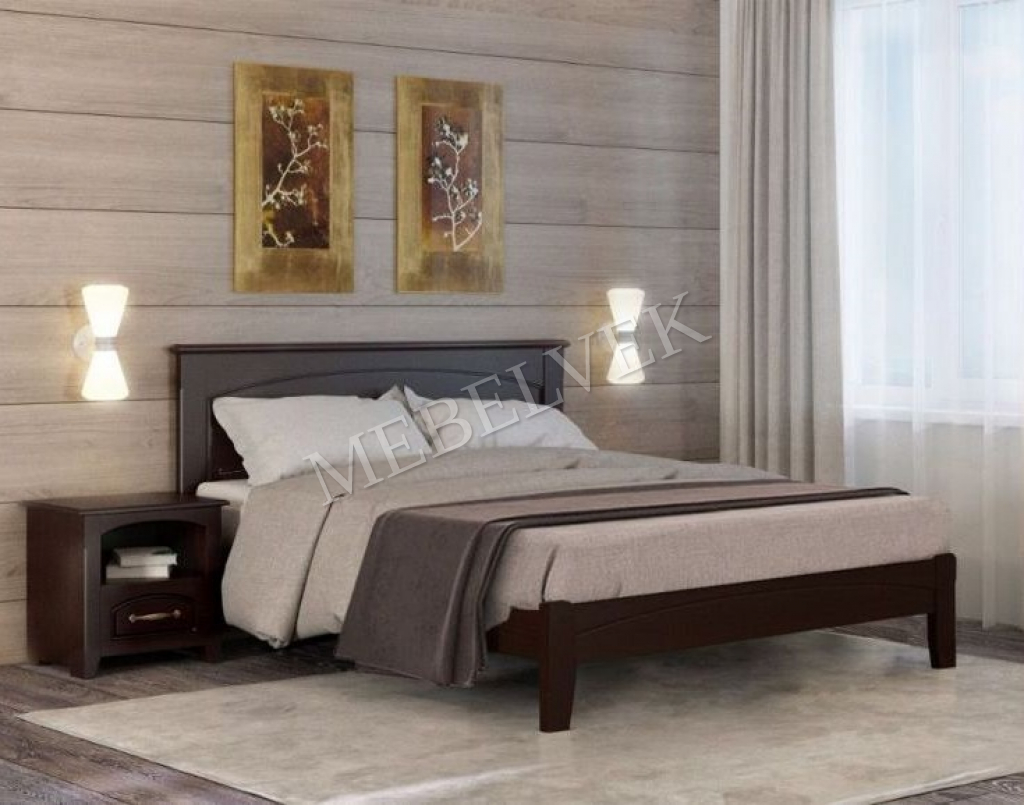 Кровать Шарм из массива дерева