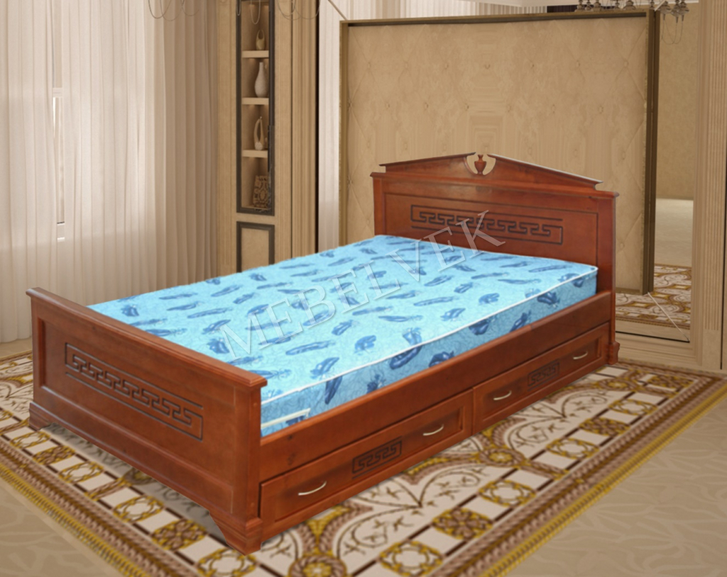 Кровать Тоскания с ящиками из массива дерева
